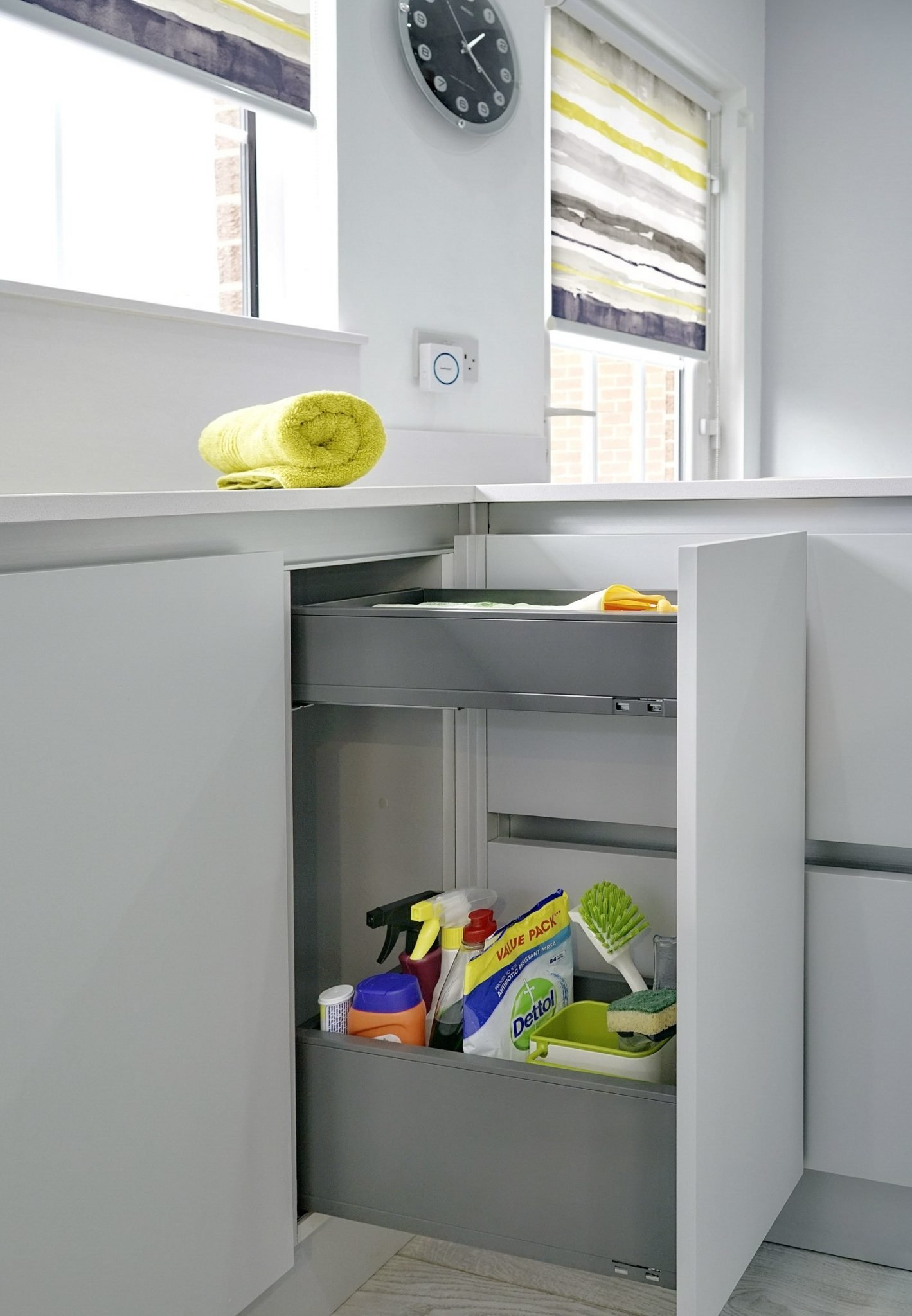 Blum storage in modern kitchen