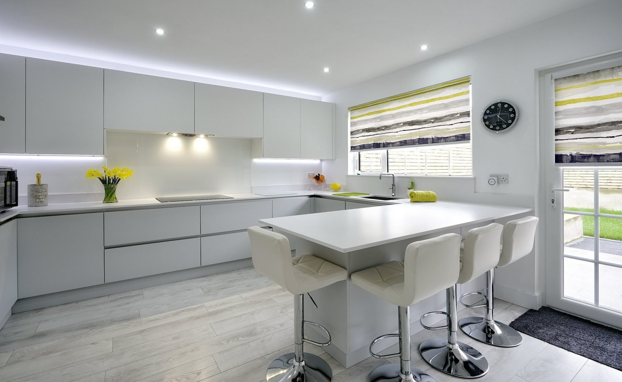 Pure white modern kitchen