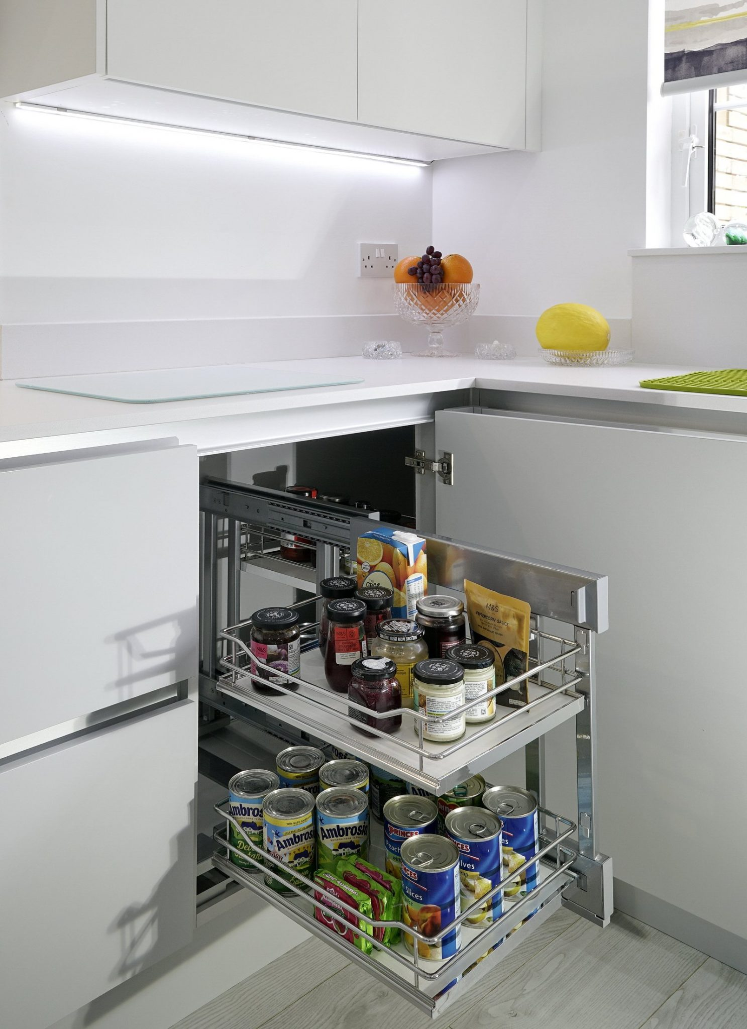 Modern storage in kitchen