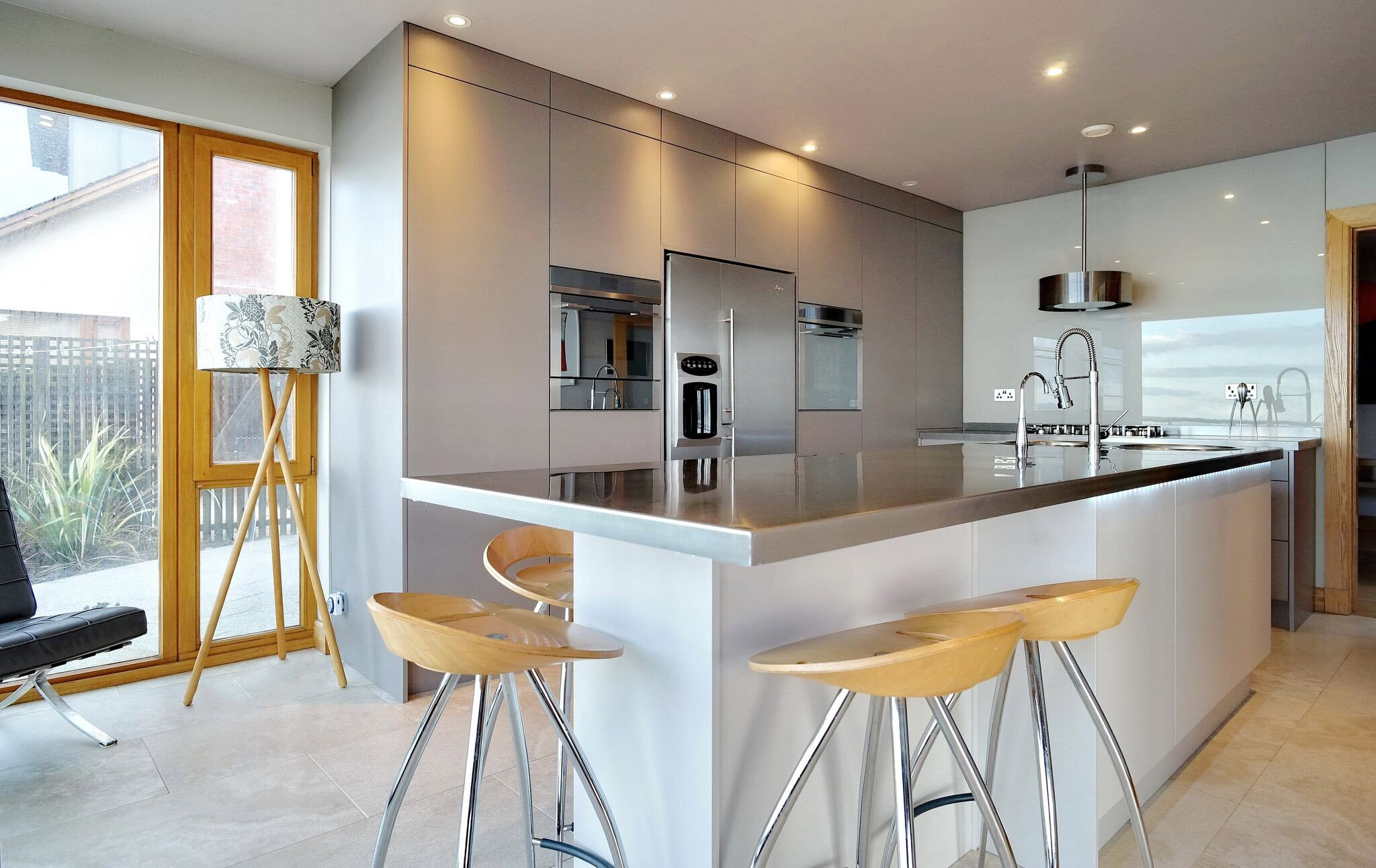 Full View-Adornas Kitchens-Basalt & Cashmere Matte Kitchen
