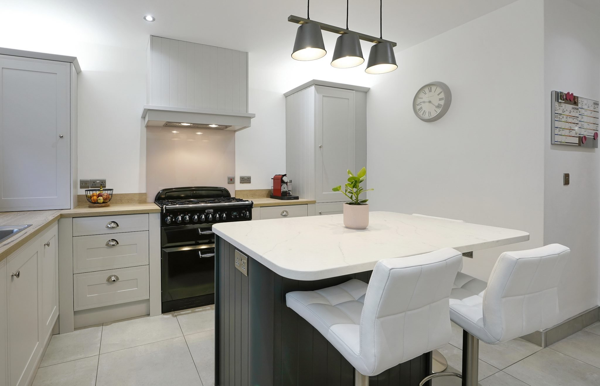Grey Shaker Kitchen with Graphite Island