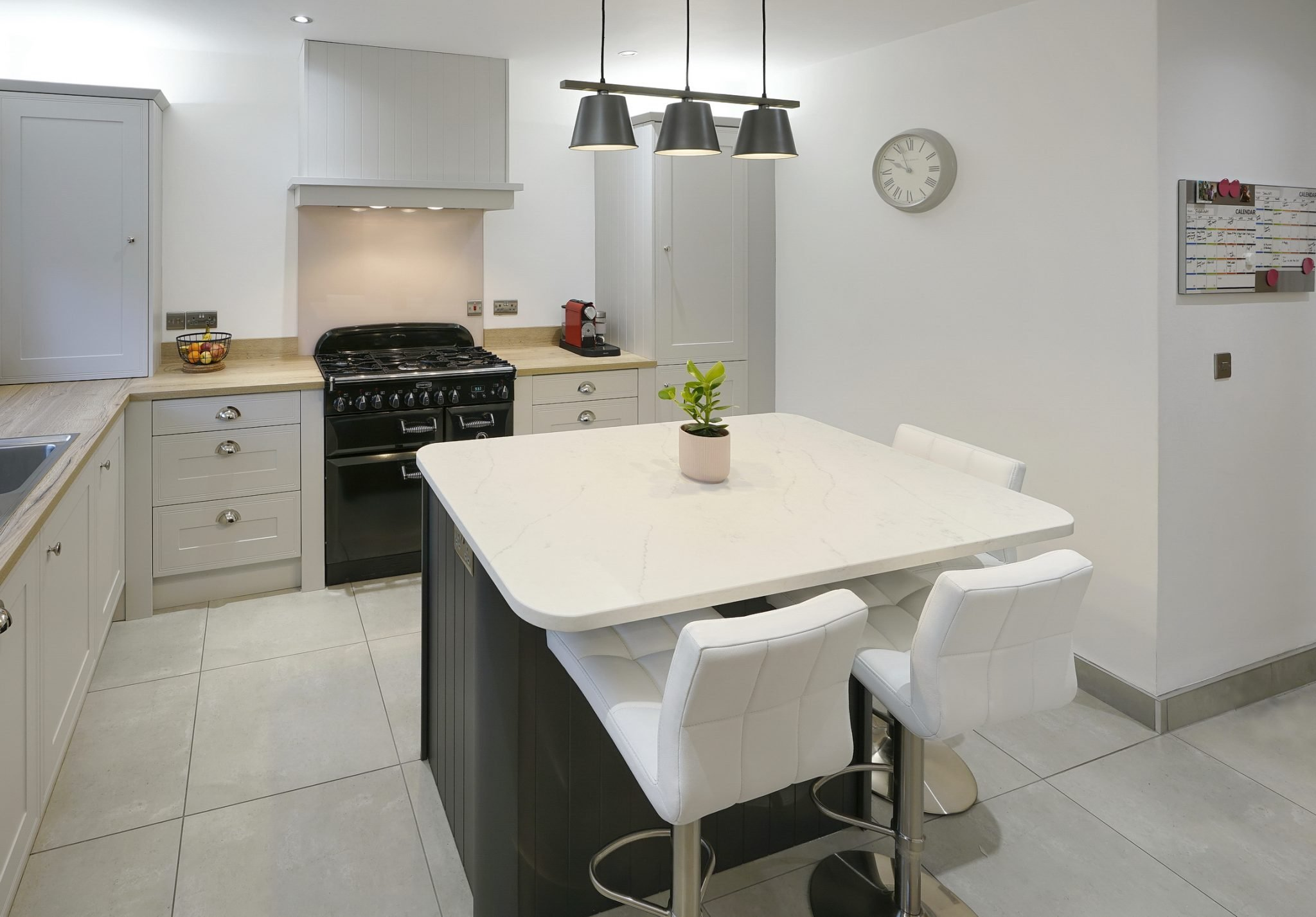 Light Grey Kitchen with Island