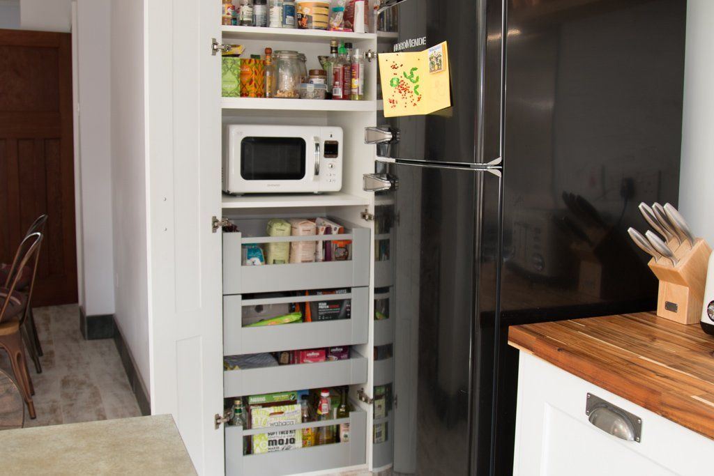 Compact kitchen with larder