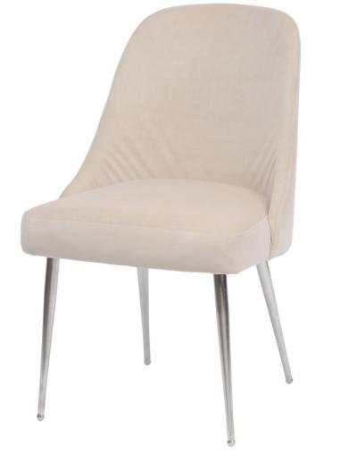 Bardolino Cream Velvet Dining Chair £280 Min Order 2
