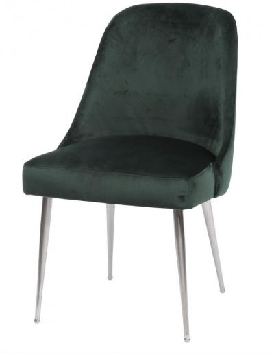 Bardolino Green Velvet Dining Chair £280 Min Order 2