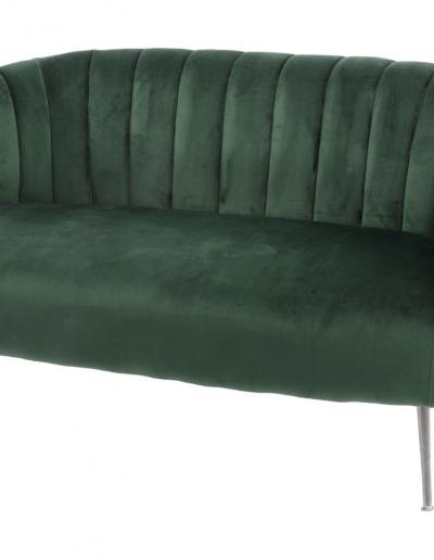 Bardolino Green Velvet Pleated Sofa £710