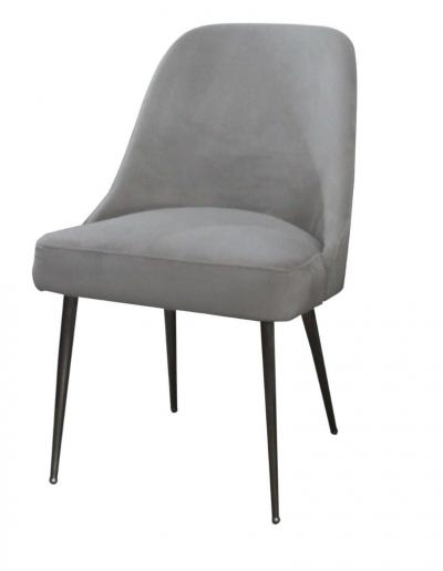Bardolino Grey Velvet Dining Chair £280 Min Order 2