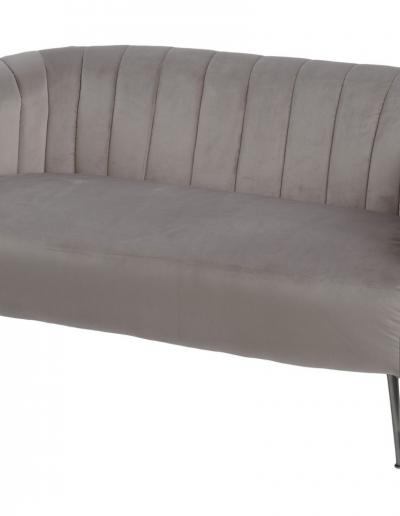Bardolino Mink Velvet Pleated Sofa £710