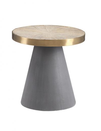 Belmore Elm & Concrete Side Table £305