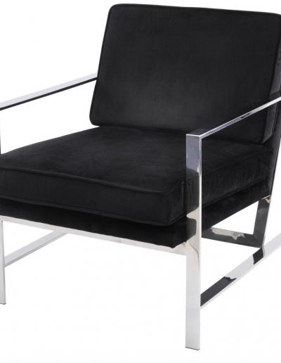 Black Velvet Occasional Chair £710