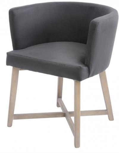 Brooklyn Grey Velvet Dining Chair £350