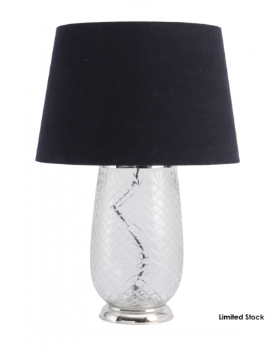 Cut Glass Table Lamp With Shade £100