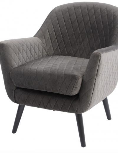 Ellison Grey Velvet Occasional Chair £830
