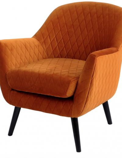 Ellison Orange Velvet Occasional Chair £830