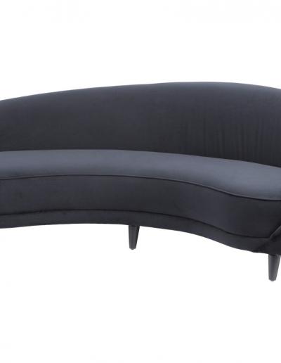 Gatsby Black Velvet Four Seater Sofa £2100