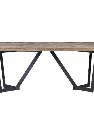 Glenmore Elm & Iron Dining Table £1420