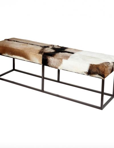 Goat Hide Bench 470x1400x350 £400