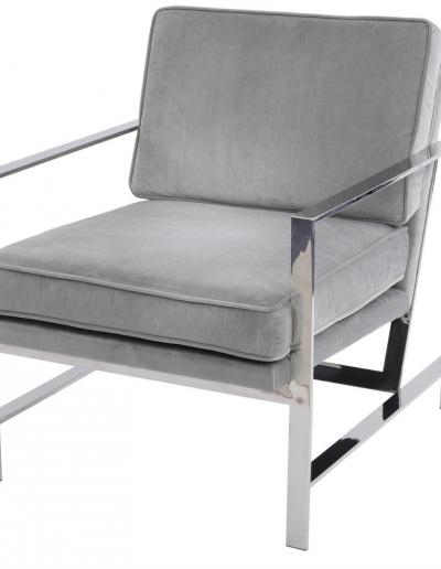 Grey Velvet Occasional Chair £710