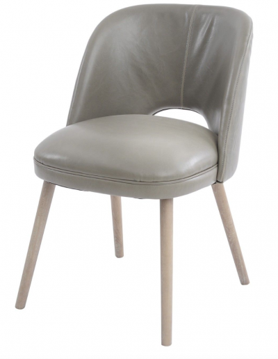 Helix Green Leather Dining Chair £330 Min Order 2