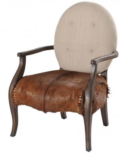 Homestead Goat & Linen Louis Chair £720
