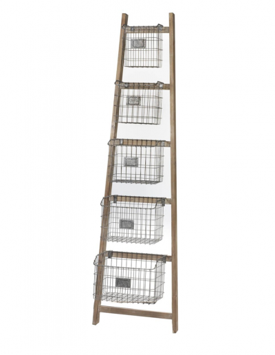 Ladder with Baskets 1900x525 £260