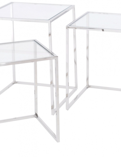 Linton Steel & Glass Nesting Tables £381