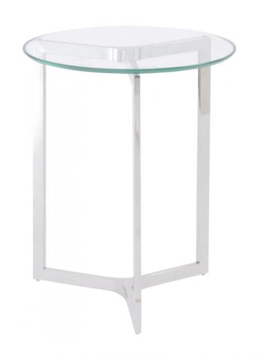 Linton Steel & Glass Side Table £215