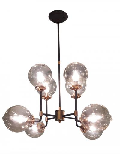 Mercer Bubble Black & Brass Chandelier £360