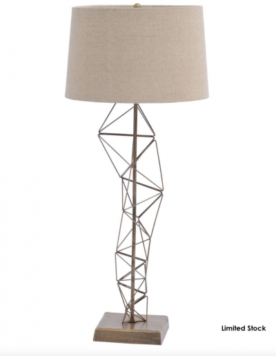 Renzo Antique Brass Table Lamp £105