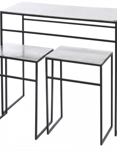 Silver Elements Console & Nesting Tables £600