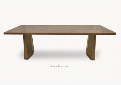 Oak & Brass Table