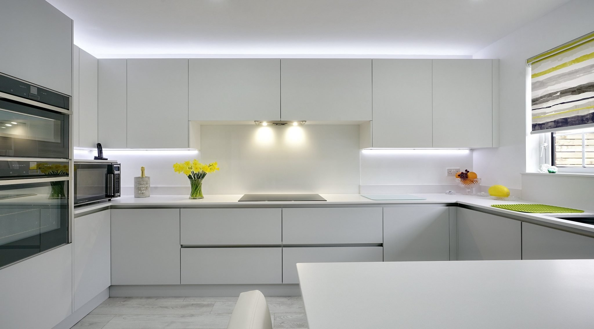 Modern White Handleless Kitchen
